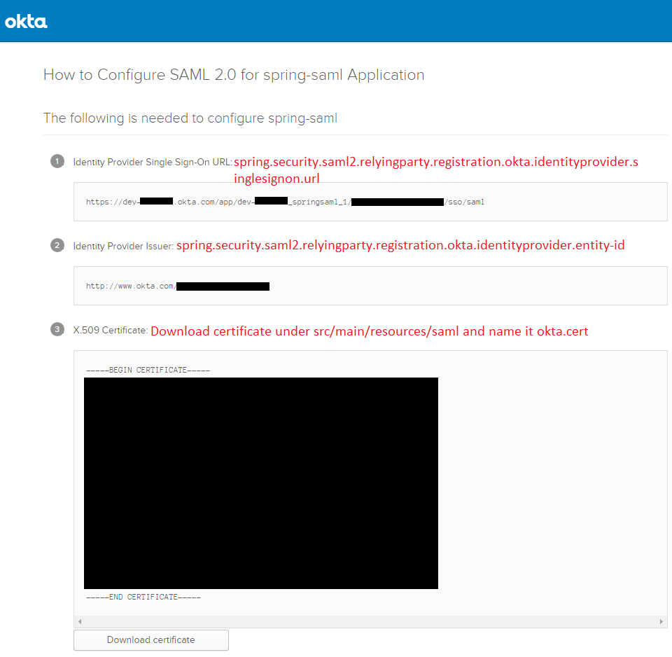 CANCHITO-DEV: Okta developer howto configure SAML2 for your application